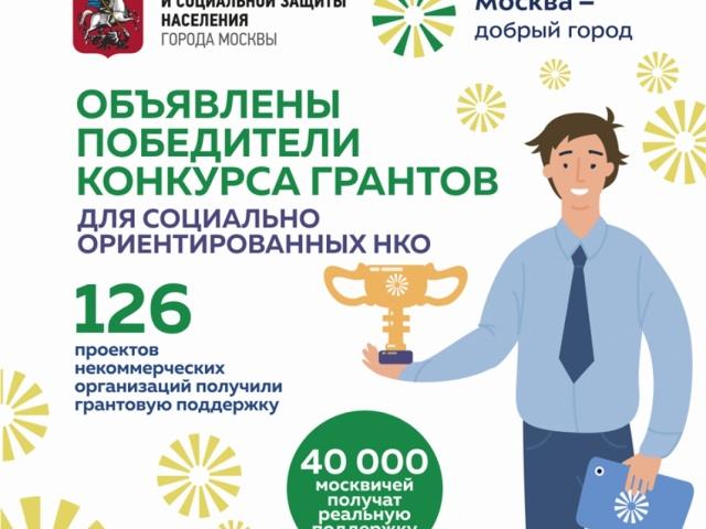 Фонд «Преодолей-ка» вошёл в число победителей конкурса грантов Департамента труда и социальной защиты г.Москвы.